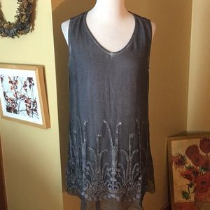 SOFT SURROUNDINGS Medium Embroidery Tunic sequin